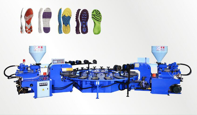 Full-Automatic Disk Type Shoe Injection Molding Machine(Double Color 16、20、24 stations)