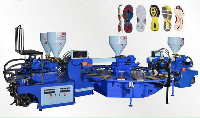 Automatic disc type plastic injection molding machine (four color 20, 24 position)