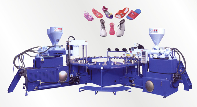 Full-Automatic Rotary Type PVC/TPR Shoes Air Blowing Injection Moulding Machine