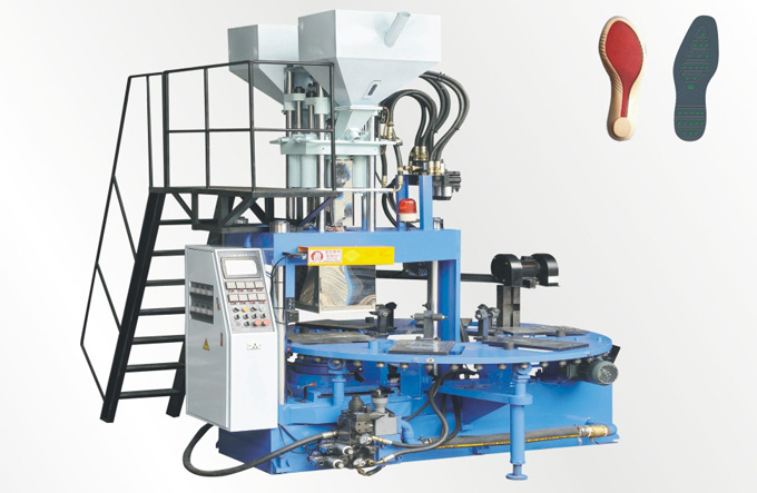 Full automatic disc type plastic injection molding machine (6 color 8, 10,, 12 position)