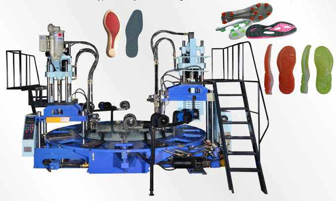 Full-Automatic Disk Vertical Type Shoe Injection Molding Machine(Double color 20 stations)